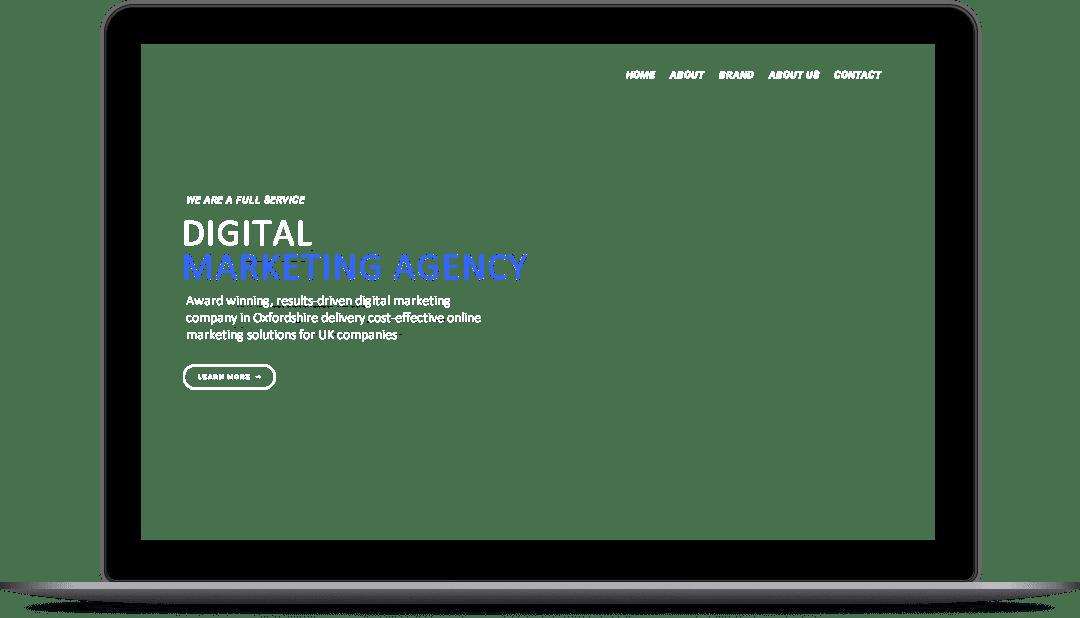 Modern Website design in Thame