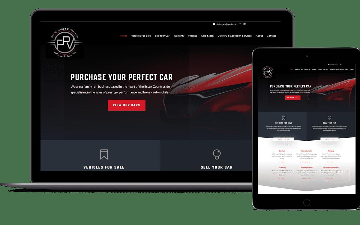 PPVSL website design for Essex company